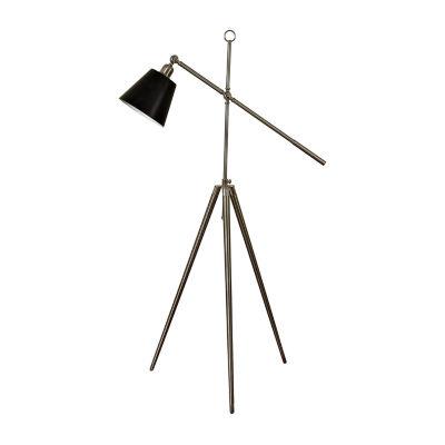 Stylecraft 25 W Brushed Steel Glass Floor Lamp