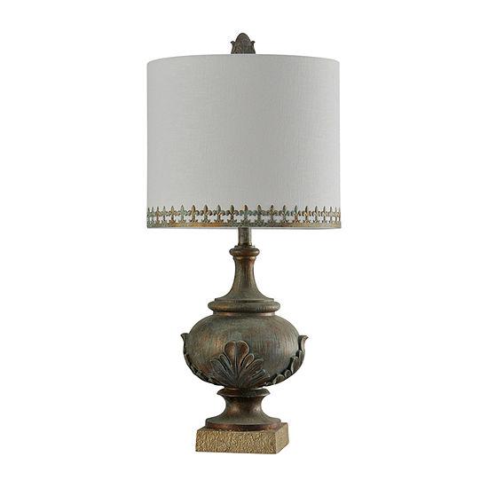 Stylecraft 14 W Ozery Gold Polyresin Table Lamp