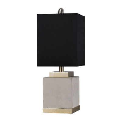 Stylecraft 8 W Brass & Natural Polyresin Table Lamp