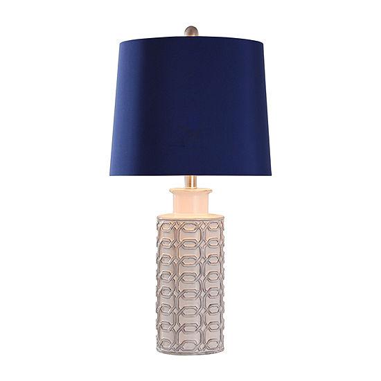 Stylecraft 13 W Cream Blue Ceramic Table Lamp