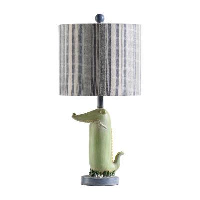 Stylecraft 10.5 W Green Polyresin Table Lamp