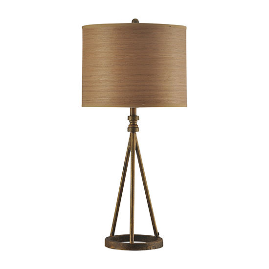 Stylecraft 15.5 W Antique Brass Iron Table Lamp