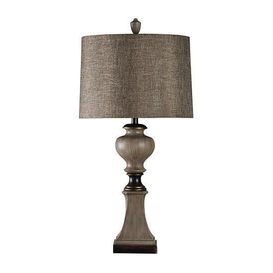 Stylecraft 17 W Black And Gray Polyresin Table Lamp