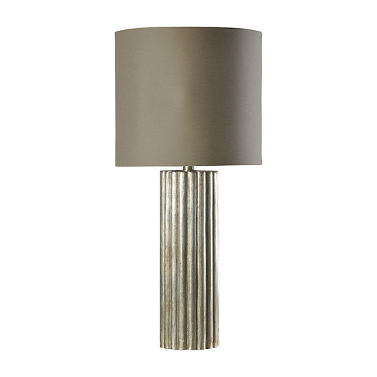 Stylecraft 16.5 W Champagne Silver Polyresin Table Lamp