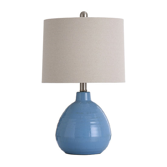Stylecraft 12 W Blue Ceramic Table Lamp