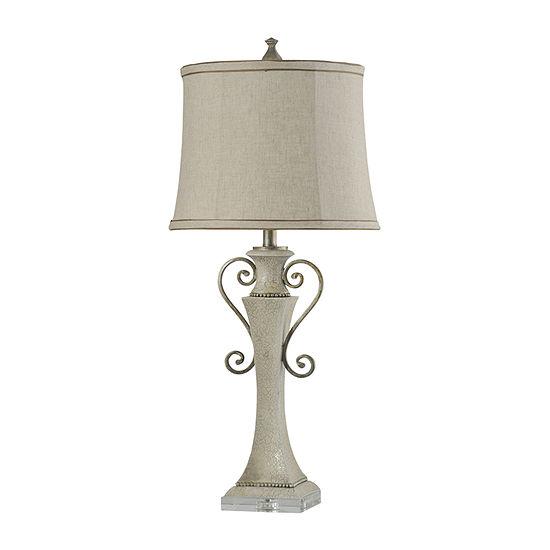 Stylecraft Neihart 15 W White Polyresin Table Lamp