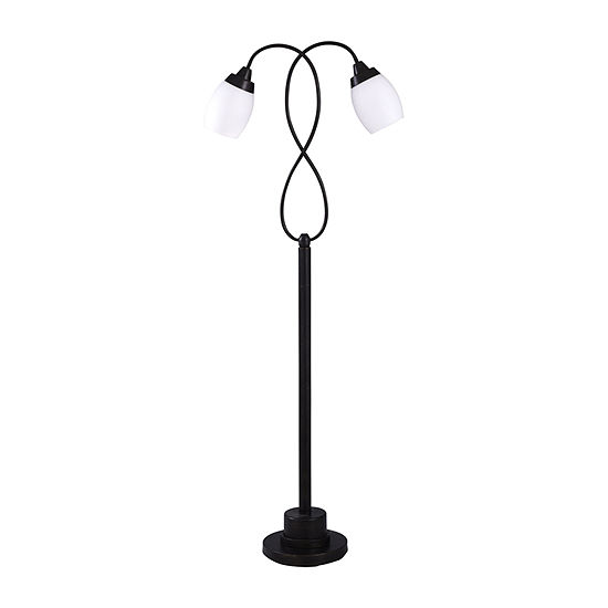 Stylecraft Brontes 18 W Black Steel Floor Lamp