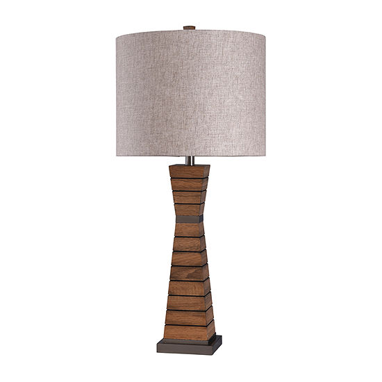 Stylecraft Cordia 16 W Brown Steel Table Lamp