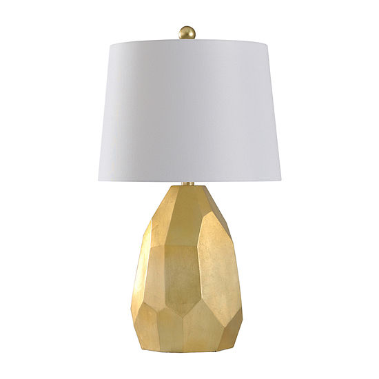 Stylecraft 14 W Gold & Silver Polyresin Table Lamp