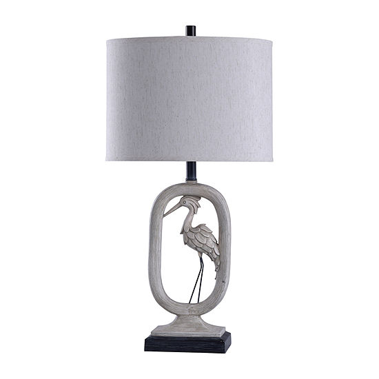 Stylecraft Egretta 16 W Grey Polyresin Table Lamp
