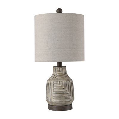 Stylecraft 10.5 W Gray Polyresin Table Lamp
