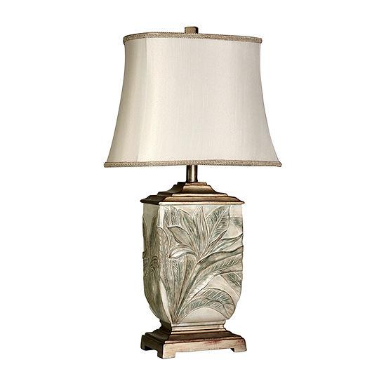 Stylecraft 15.5 W White Polyresin Table Lamp