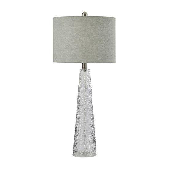 Stylecraft 12.5 W Smoke Glass Table Lamp