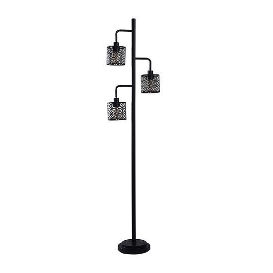 Stylecraft 10 W Black Steel Floor Lamp