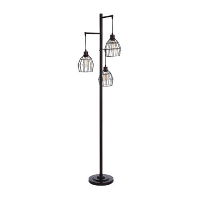Stylecraft 11 W Black Steel Floor Lamp