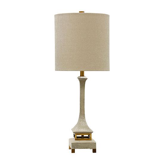 Stylecraft Ardine 13 W Ivory & Gold Steel Table Lamp