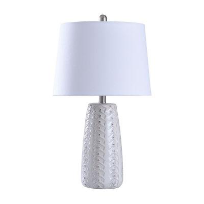 Stylecraft 11 W Off White Ceramic Table Lamp
