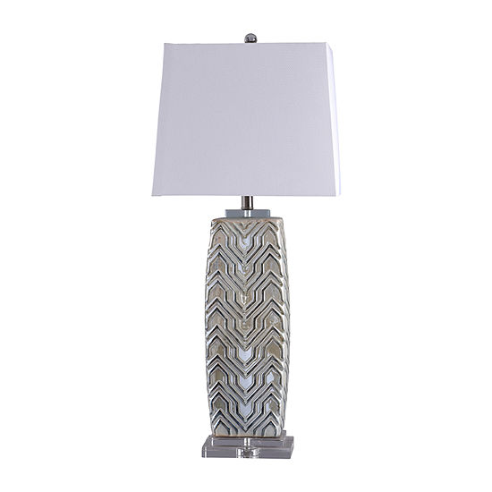 Stylecraft Ganado 16 W Grey Ceramic Table Lamp