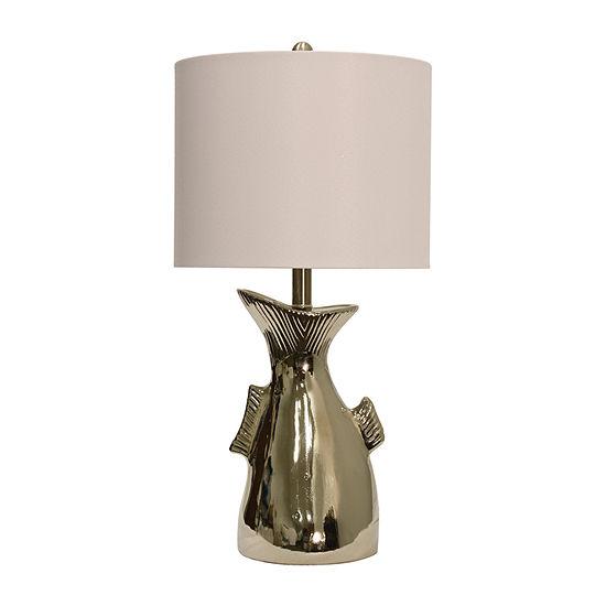 Stylecraft 13 W Silver Ceramic Table Lamp