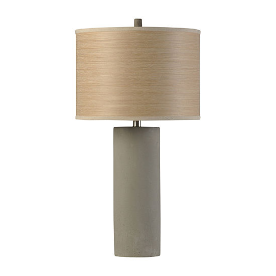 Stylecraft Berkley Woods 15.5 W Gray Steel Table Lamp
