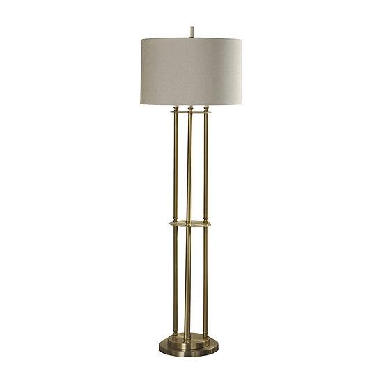 Stylecraft 19 W Brass Steel Floor Lamp