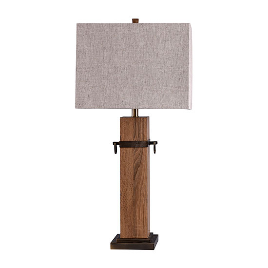 Stylecraft 16.5 W Brown Steel Table Lamp