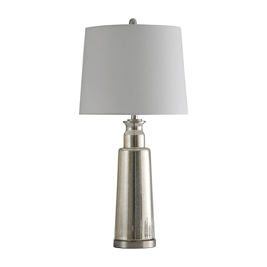 Stylecraft Northbay 16 Mercury & White Glass Table Lamp