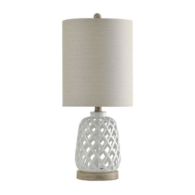Stylecraft 10 W White Ceramic Table Lamp