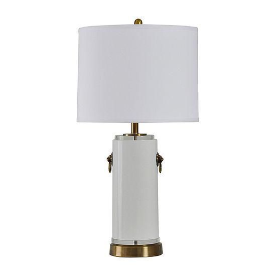 Stylecraft 16.5 W White Glass Table Lamp