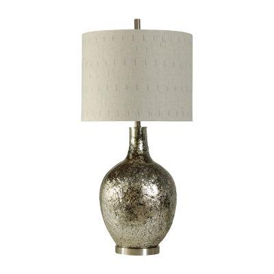 Stylecraft 18 W Silver Glass Table Lamp