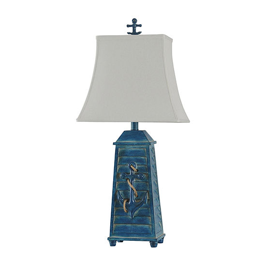Stylecraft 13.5 W Blue Polyresin Table Lamp