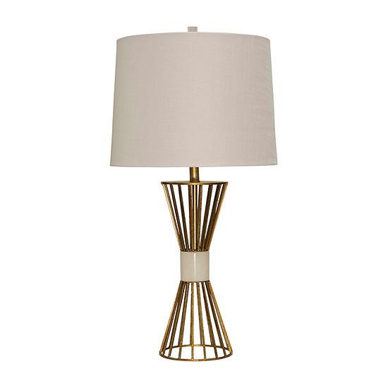 Stylecraft 17 W Antique Brass Metal Table Lamp