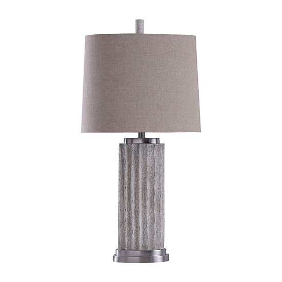 Stylecraft 16.5 W Polished Nickel Steel Table Lamp