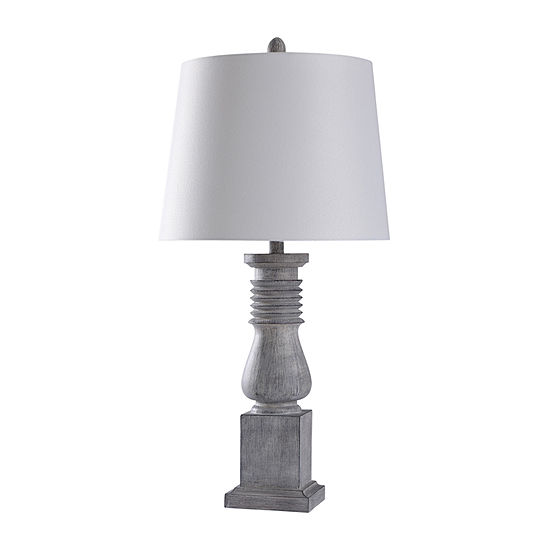 "Stylecraft Greyson Grey 16"" Polyresin Table Lamp"
