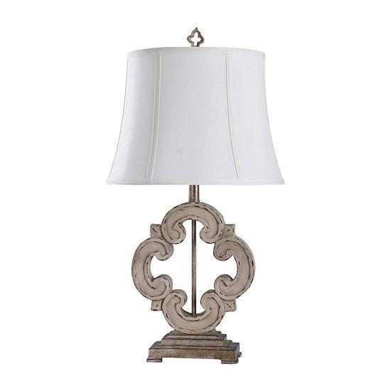 "Stylecraft Tuscany 16"" W Cream Polyresin Table Lamp"