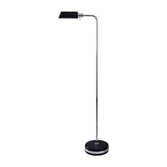 Stylecraft Drayton 17 W Black Steel Steel Floor Lamp