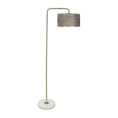 Stylecraft Hastings 13 W Brass Steel Floor Lamp