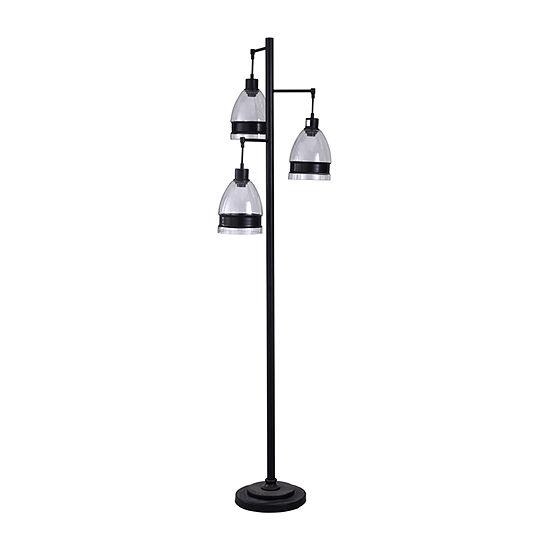 Stylecraft 16 W Black Steel Floor Lamp