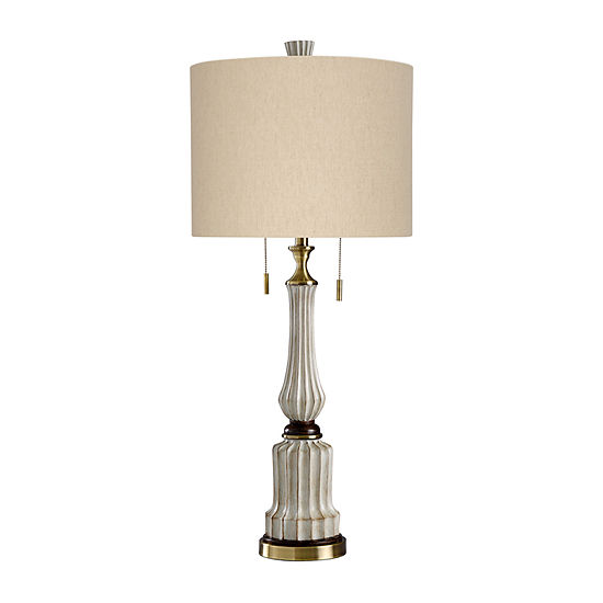 Stylecraft 16 W Sauga Cream Steel Table Lamp