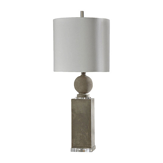 Stylecraft 16 W Gray Concrete Table Lamp