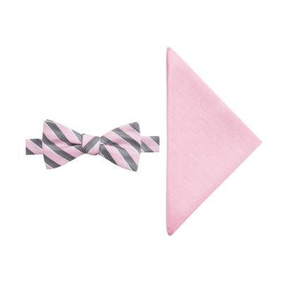JF J.Ferrar Stripe Bow Tie Set