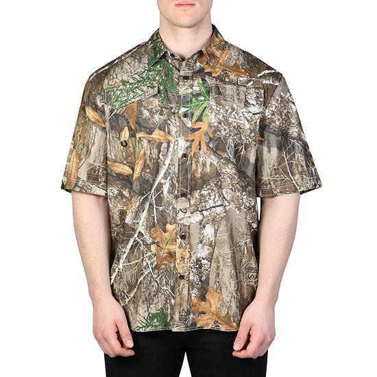 Realtree Mens Woven Camp Shirt