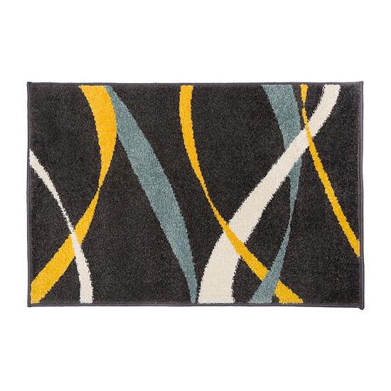 Waves Design Rectangular Indoor Rug