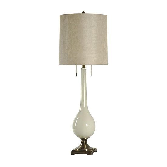 Stylecraft Lazio 15 W White Polyresin Table Lamp