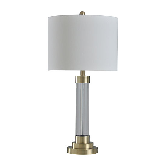 Stylecraft Stark 14 W Gold Metal Table Lamp