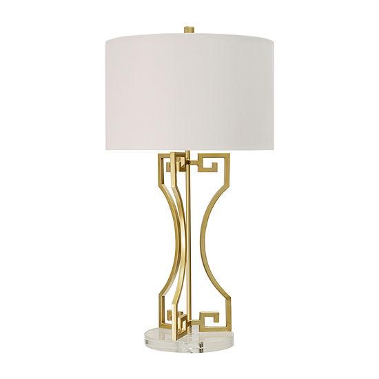 Stylecraft Golden Greek 16 W Gold Metal Table Lamp