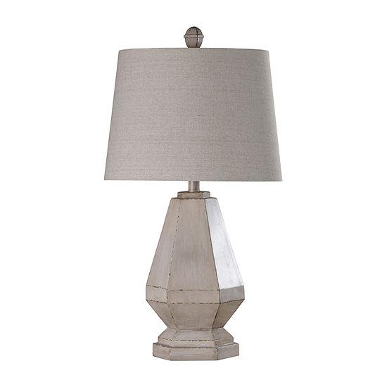 Stylecraft Storico 16 W Cream Polyresin Table Lamp