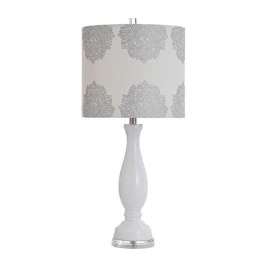 Stylecraft Northbay 14 W White Glass Table Lamp