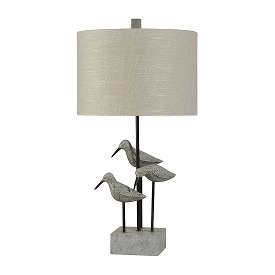 Stylecraft Chittaway Bay 16 W Gray Polyresin Table Lamp