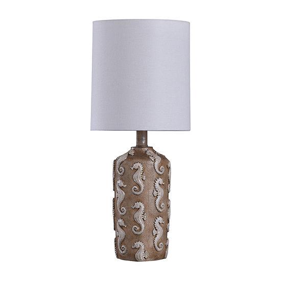 Stylecraft Seahourse 9 W Brown Mini Polyresin Table Lamp